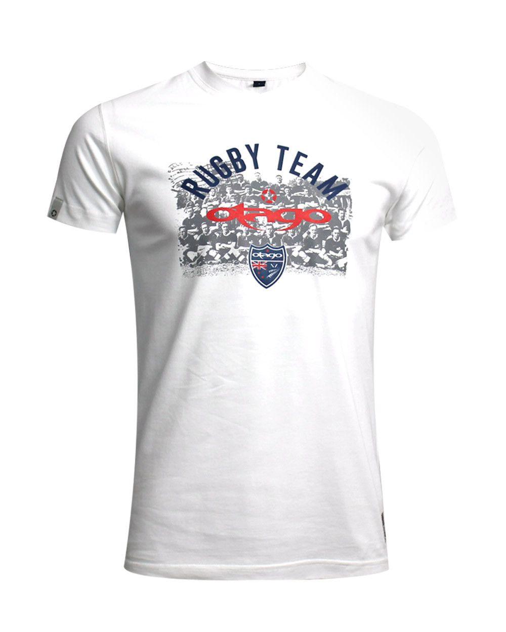 Tshirt Burns Teamy Otago rugby écru homme