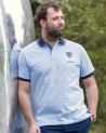 Polo manches courtes Artax Otago rugby bleu ciel homme