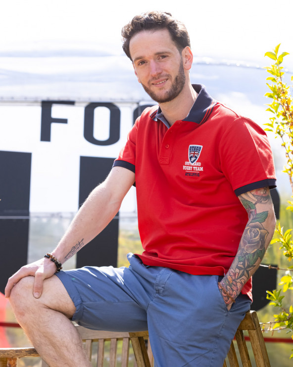 Polo manches courtes Artax Otago rugby rouge homme