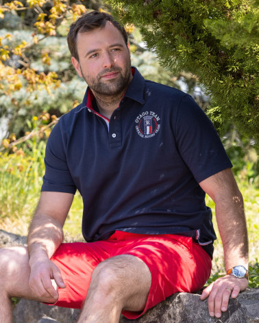 Polo Serioustag Otago rugby manches courtes marine Homme