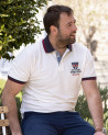 Polo Artax Otago rugby écru manches courtes homme