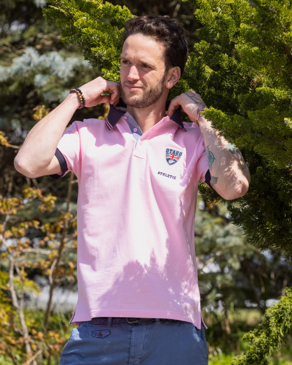 Polo Artax Otago rugby rose manches courtes homme