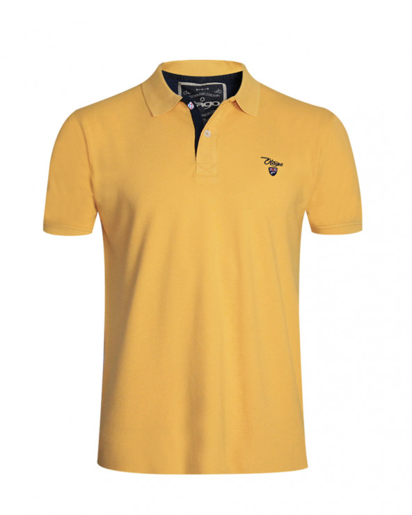 Polo Abruzzo manches courtes Otago rugby mimosa homme