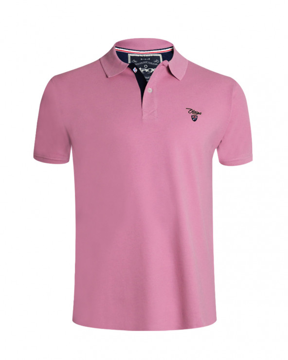 Polo Abruzzo manches courtes Otago rugby rose homme