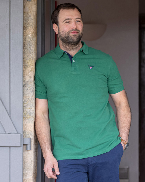 Polo Abruzzo manches courtes Otago rugby vert homme