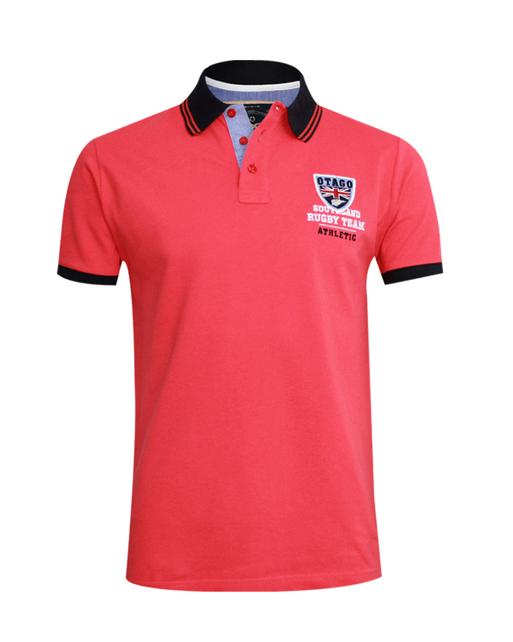 Polo Artax manches courtes Otago rugby framboise homme