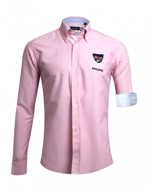 Chemise manches longues Artax Otago rugby rose homme