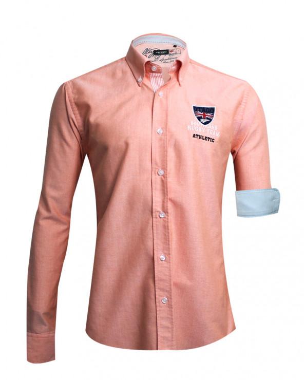 Chemise manches longues Artax Otago rugby orange homme