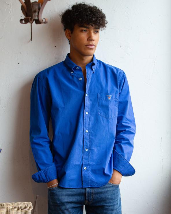 chemise manches longues Otago Pretin Buenos Aires bleu cobalt