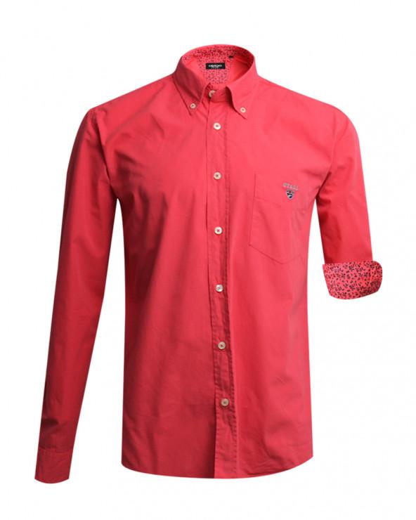 chemise manches longues Otago Pretin Buenos Aires corail homme