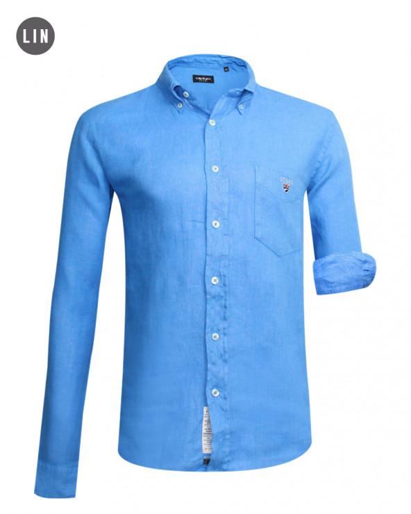 chemise LIN BUENOS AIRES manches longues Otago lavande homme