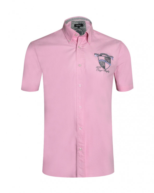 chemise Bella manches courtes Otago rugby rose