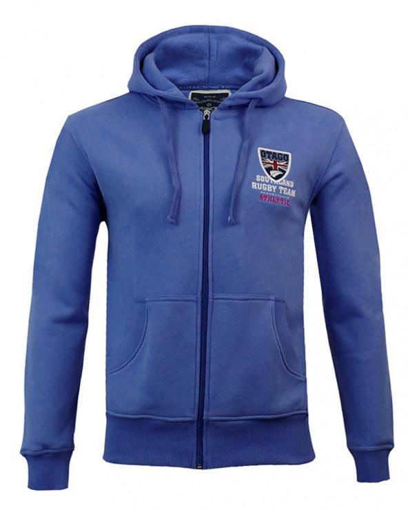 Sweat zip capuche Artax Otago rugby lavande homme