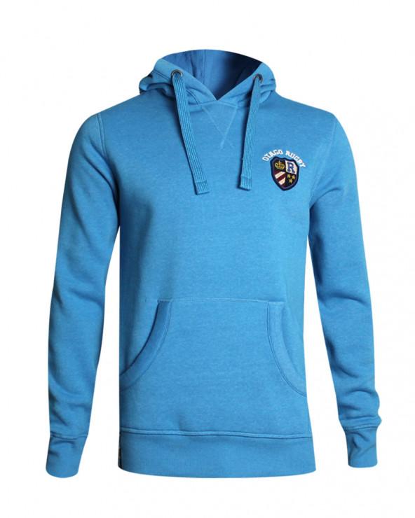 Sweat capuche Miabasil Otago rugby bleu homme