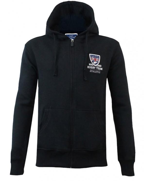 Sweat zip capuche Artax Otago rugby noir homme